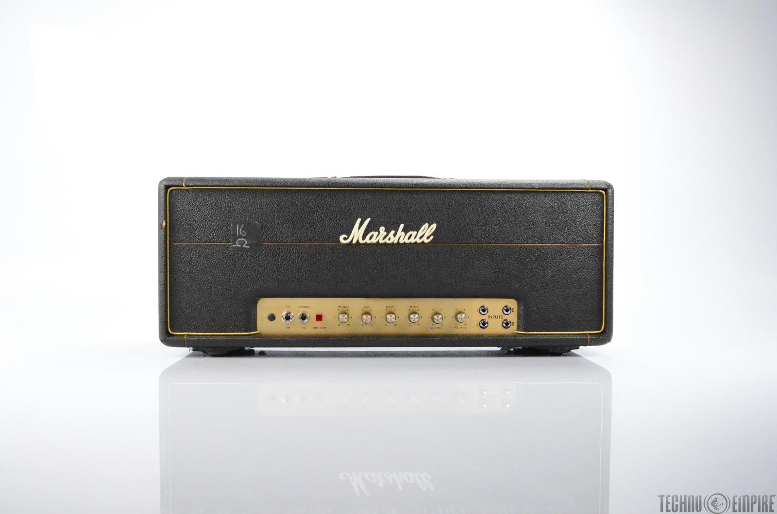1975 Marshall JMP MKII 50W Lead Model 1987 Amp Head Owned by Matt Hyde #30000