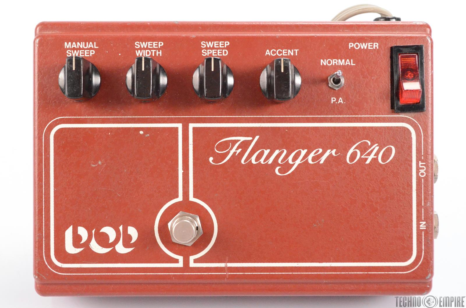 Vintage DOD 640 Flanger Guitar Pedal & DOD Phasor 201 Owned by Matt Hyde #30160