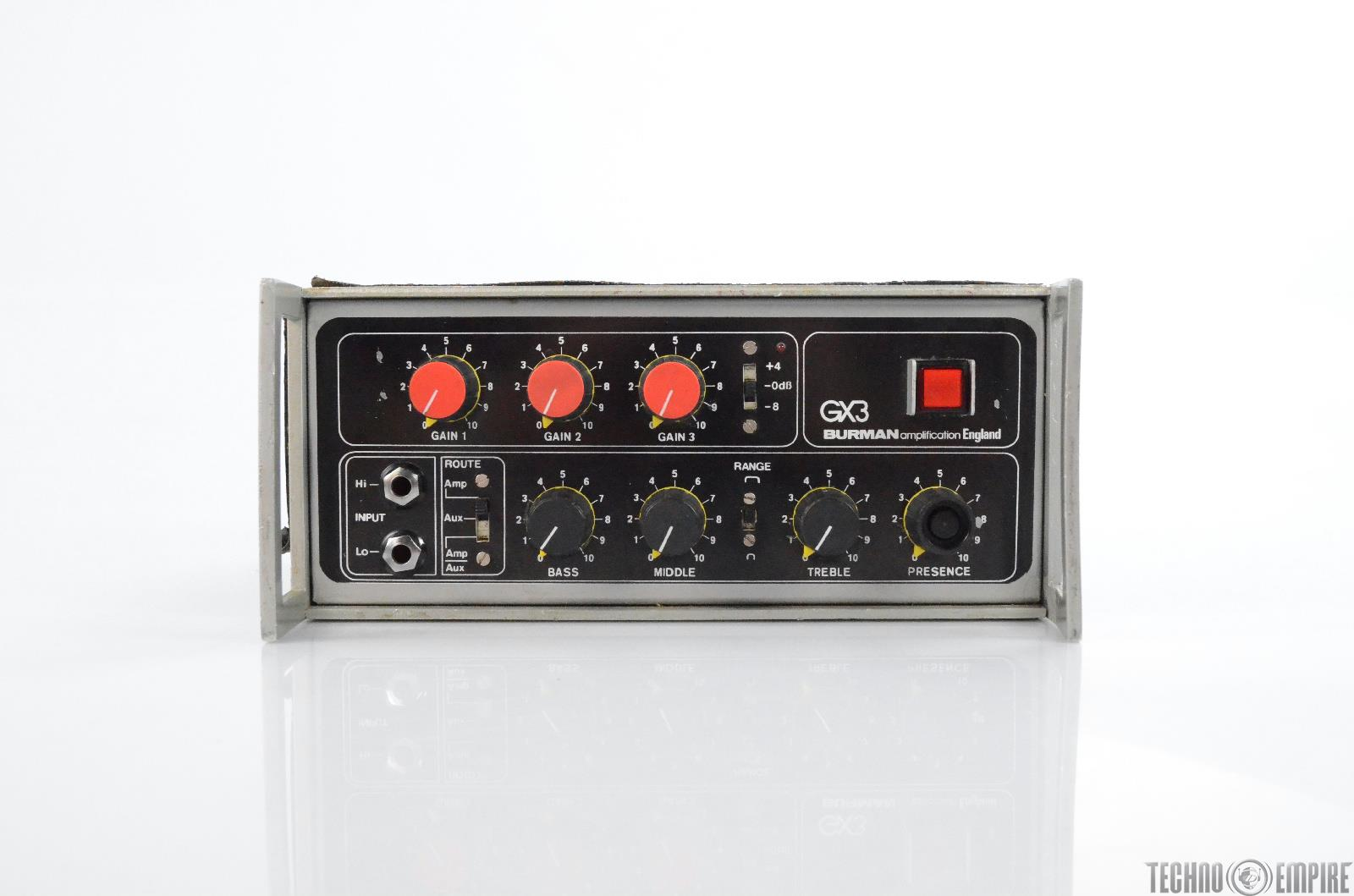 1970's Burman GX3 Guitar Amplifier Tube Preamp Owned by Matt Hyde #30272