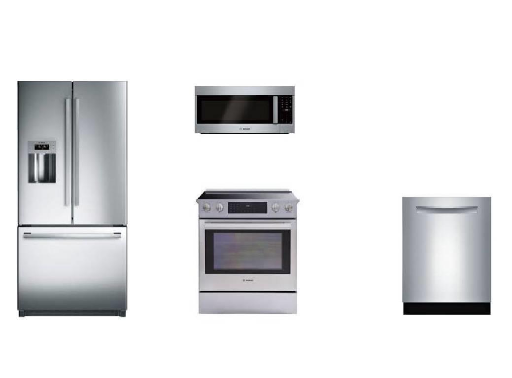 Bosch Kitchen Package; Dishwasher, Refrigerator, Electric Range ...
