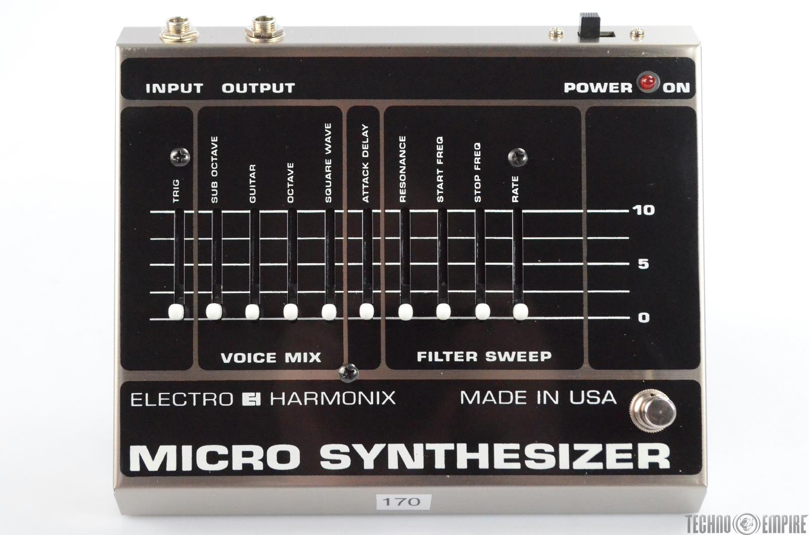 Electro Harmonix Micro Synthesizer Pedal Vintage EHX Owned by Matt Hyde #30174