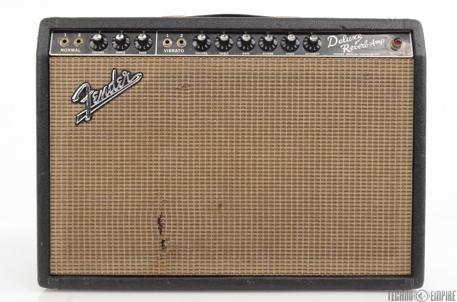 1966 Fender Deluxe Reverb Blackface Vintage Guitar Amp Owned by Matt Hyde #30203