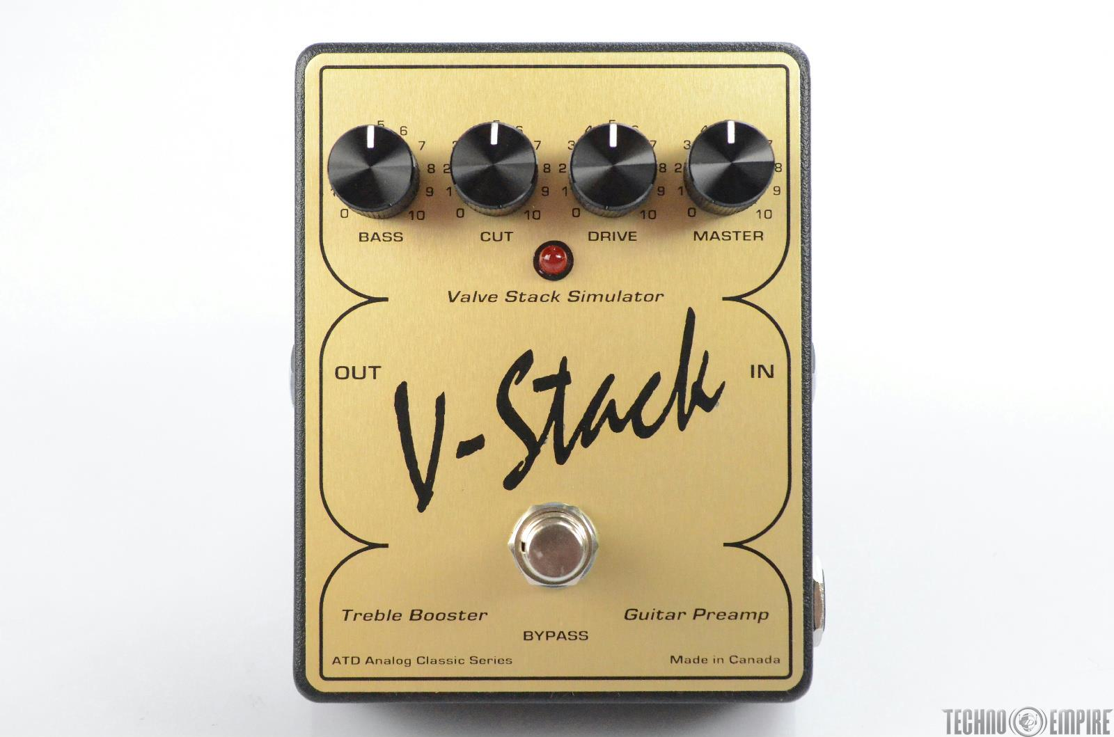ATD V-Stack Treble Booster Guitar Preamp Pedal Owned by Matt Hyde #30260