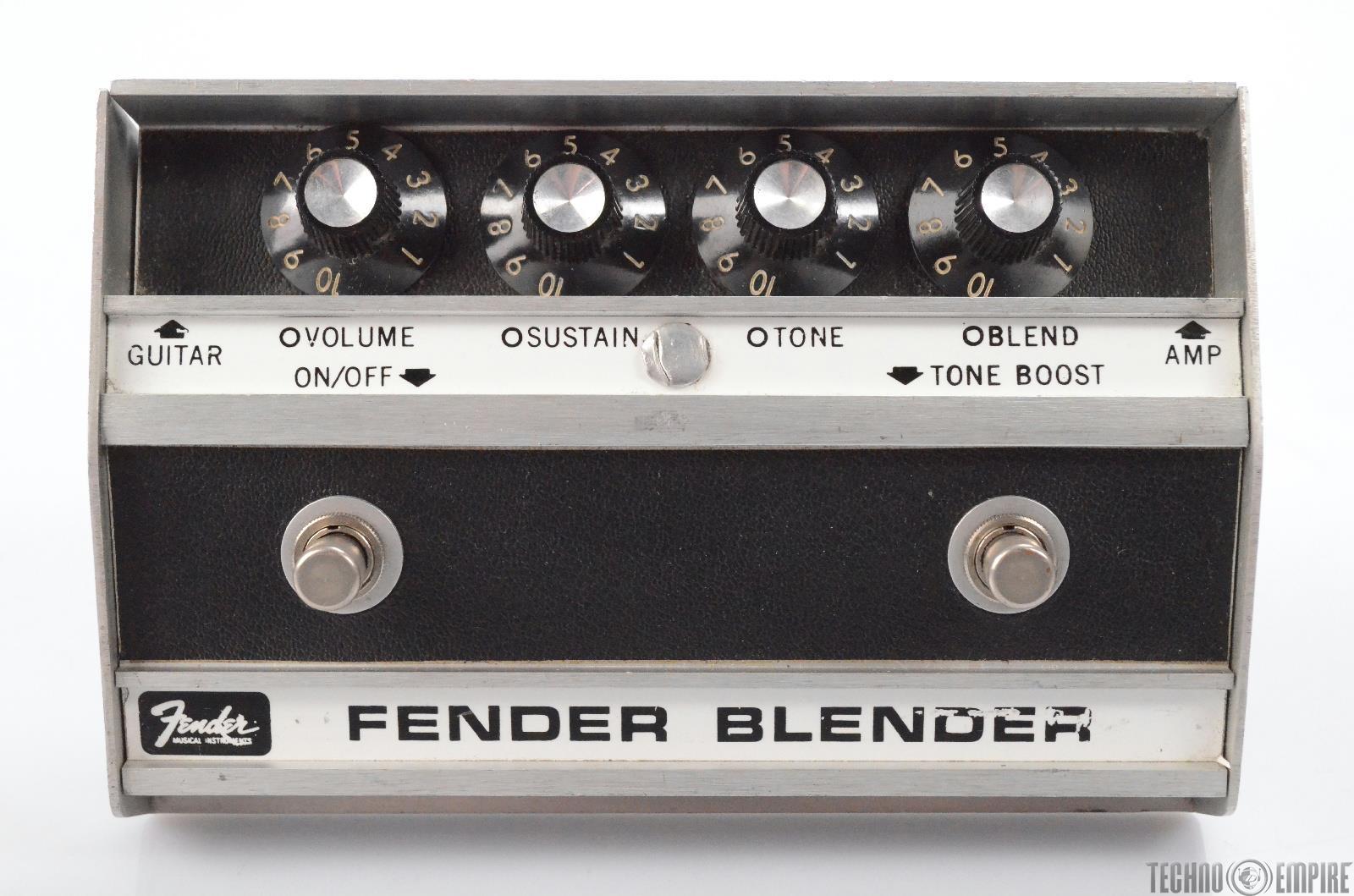 Fender Blender Octave Fuzz Guitar Effect Pedal Owned by Matt Hyde #30232