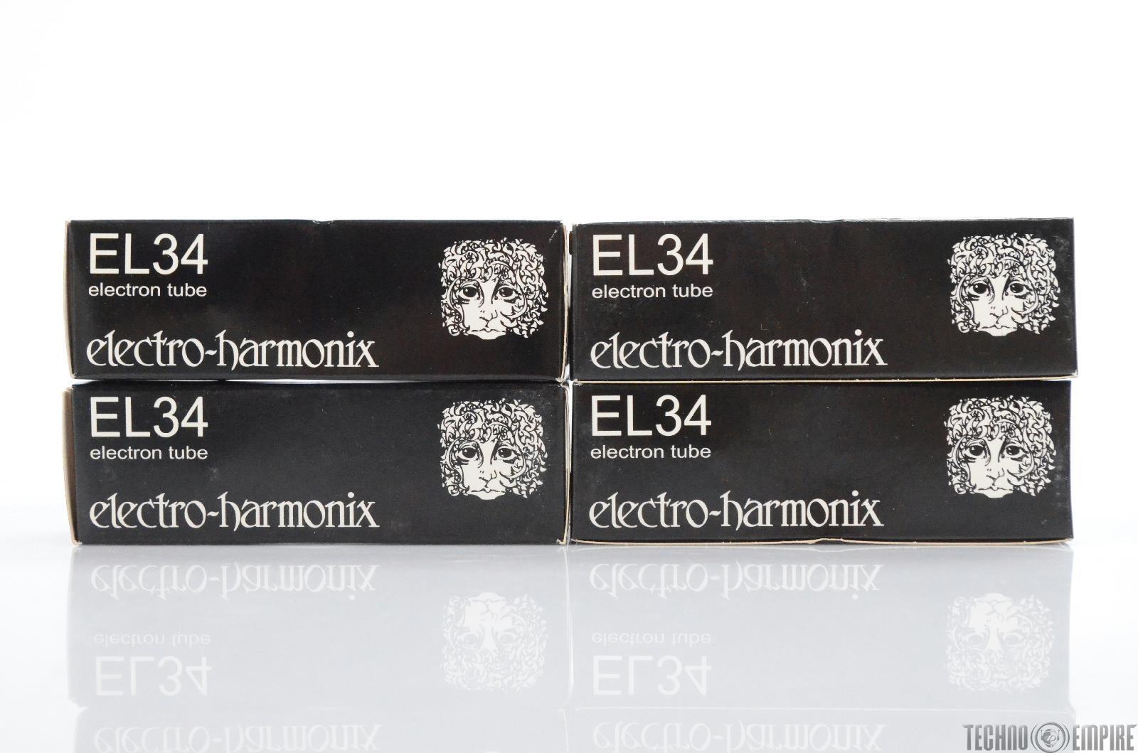 4 Electro-Harmonix EL34 Electron Vacuum Tubes (Matched) #30307