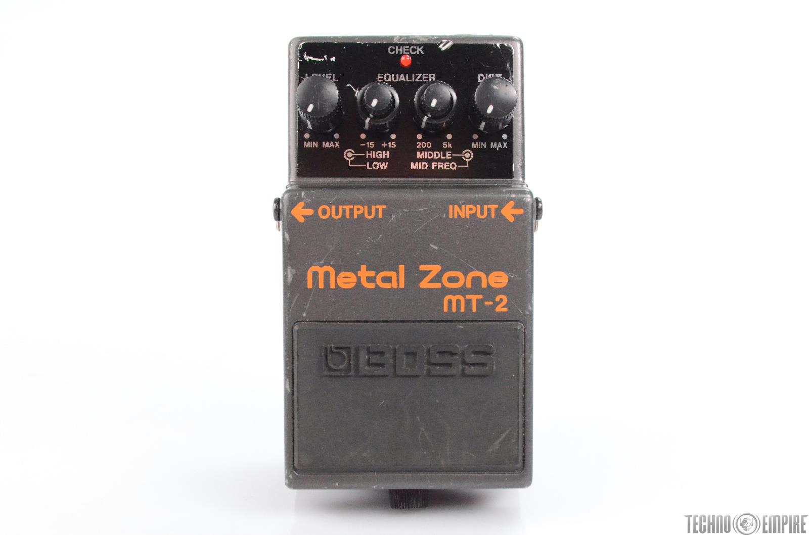 Boss MT-2 Metal Zone Equalizer Effect Pedal Owned by Matt Hyde #30189