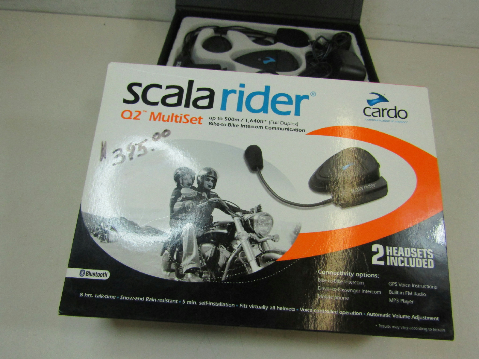 cardo scala rider q2 multiset intercom bluetooth headsets iob ebay. Black Bedroom Furniture Sets. Home Design Ideas