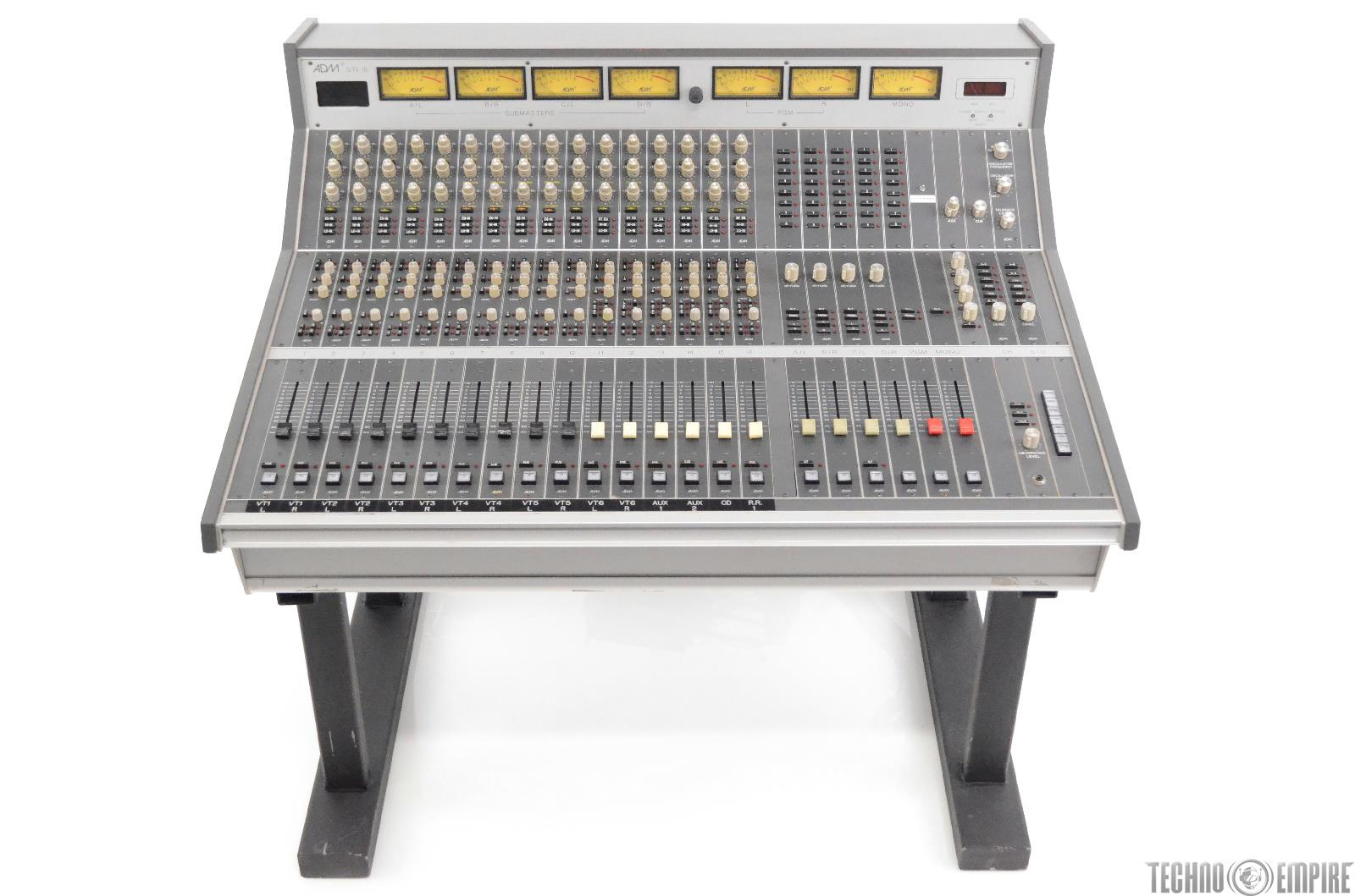 ADM S/TV 16 Channel Analog 16x6 Mixing Board Small Format Sidecar Console #30388