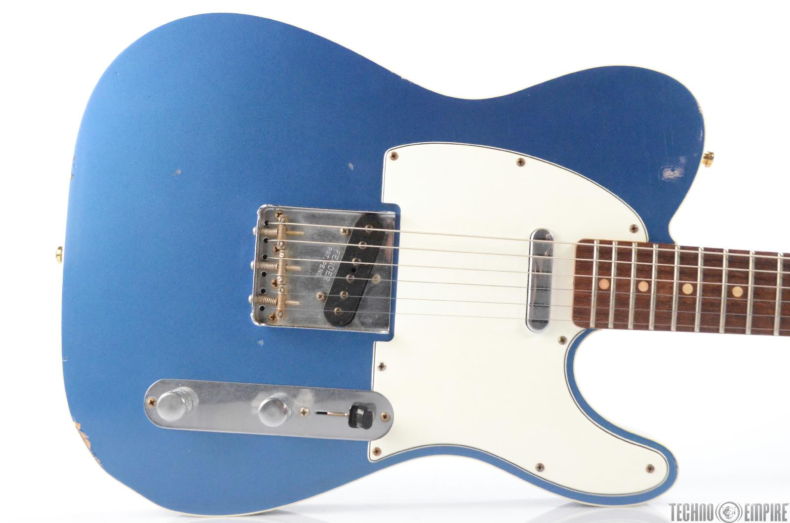 Fender Custom Shop 1960 Relic Telecaster Lake Placid Blue Guitar w/ Case #30251