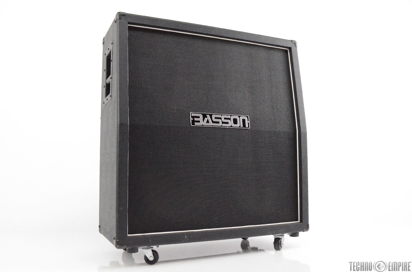 Basson B412BKSL 4x12 Angled Guitar Cab w/ Eminence Legend Speakers #30396