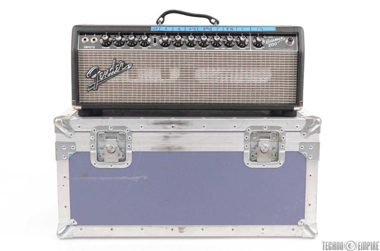 Fender Bassman 800 Bass Amplifier Amp Head w/ ATA Road Flight Case #29820