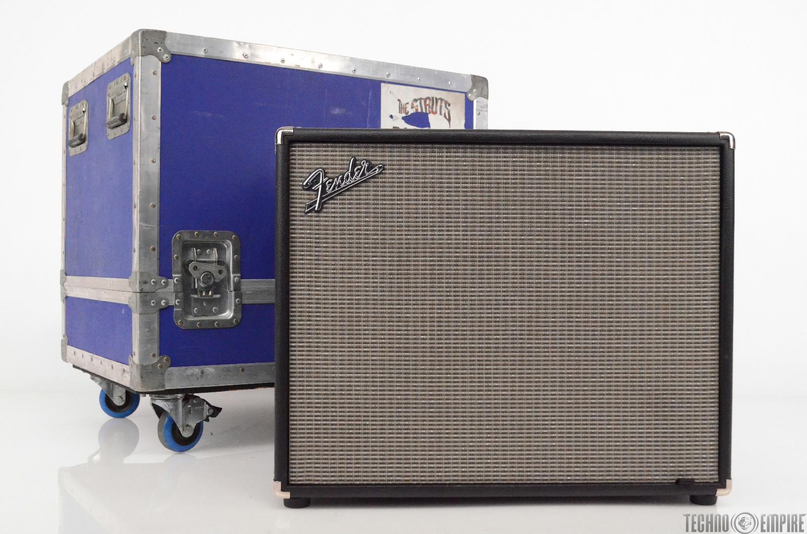 Fender Bassman 115 Neo Bass Speaker Cabinet w/ Hard Road Case 8 Ohm Cab #29821