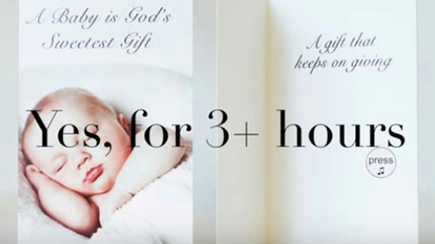 Baby shower joker greeting crying baby card with sound 867985000124 baby shower joker greeting crying baby card with sound m4hsunfo Images