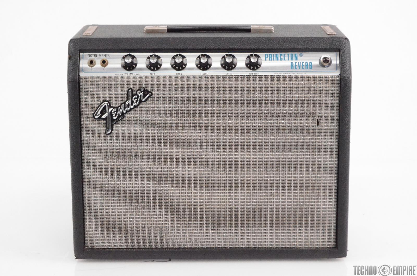 1979 Fender Princeton Reverb Silverface Tube Amp Vintage Guitar Combo #30252
