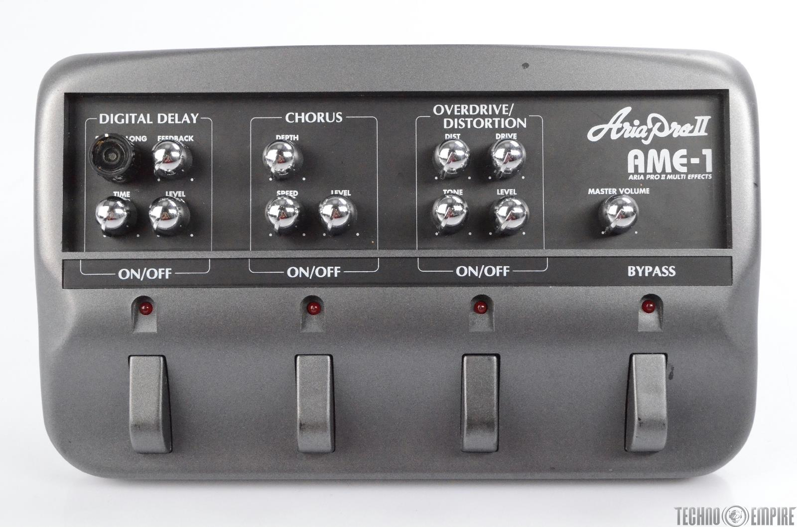 Aria Pro II AME-1 Multi Effects Delay Chorus OD Distortion Guitar Pedal #30463