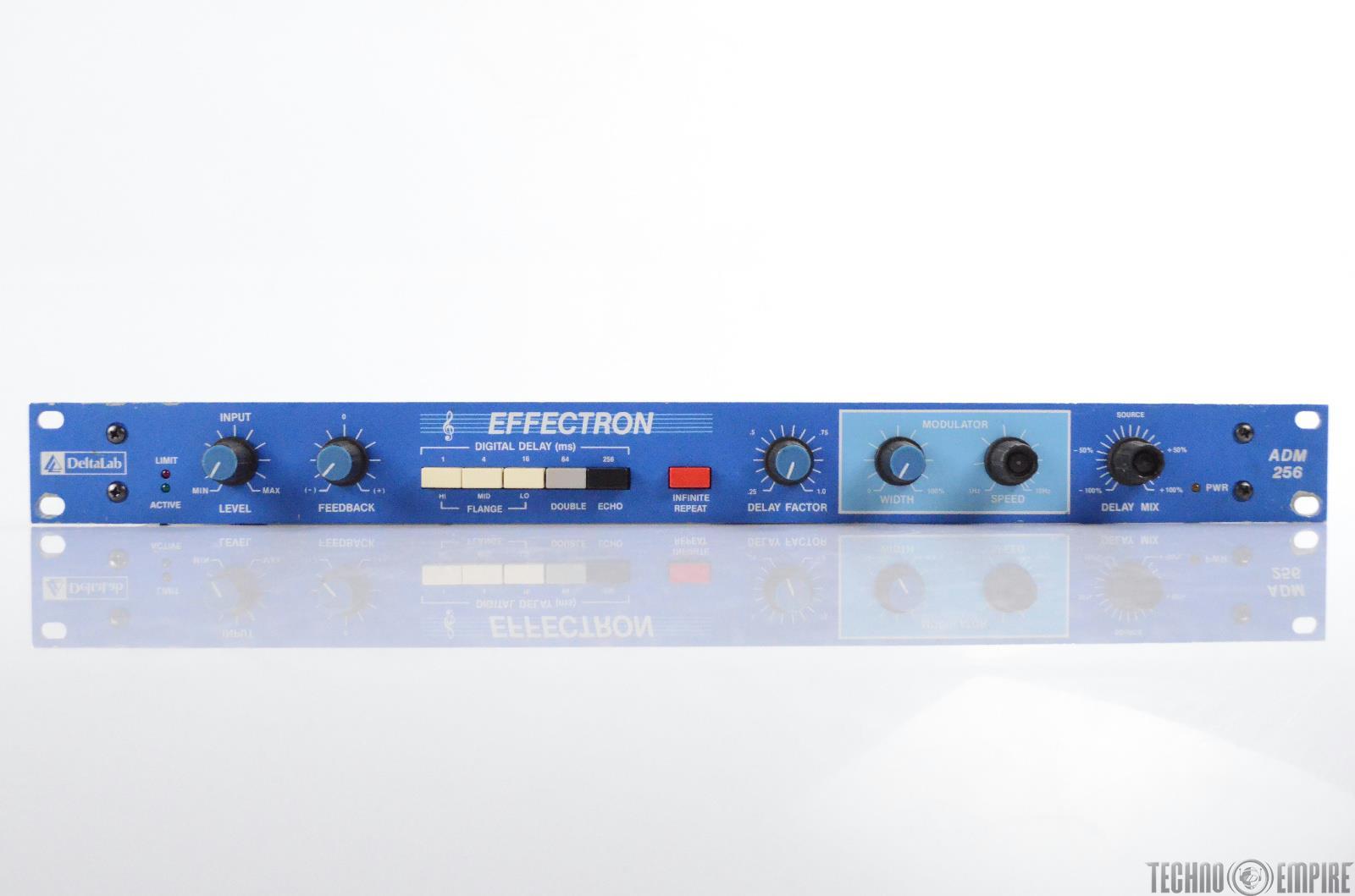 DeltaLab Effectron ADM 256 Digital Delay Echo Doubler Flanger ADM256 Blue #30408 [NEEDS REPAIR]
