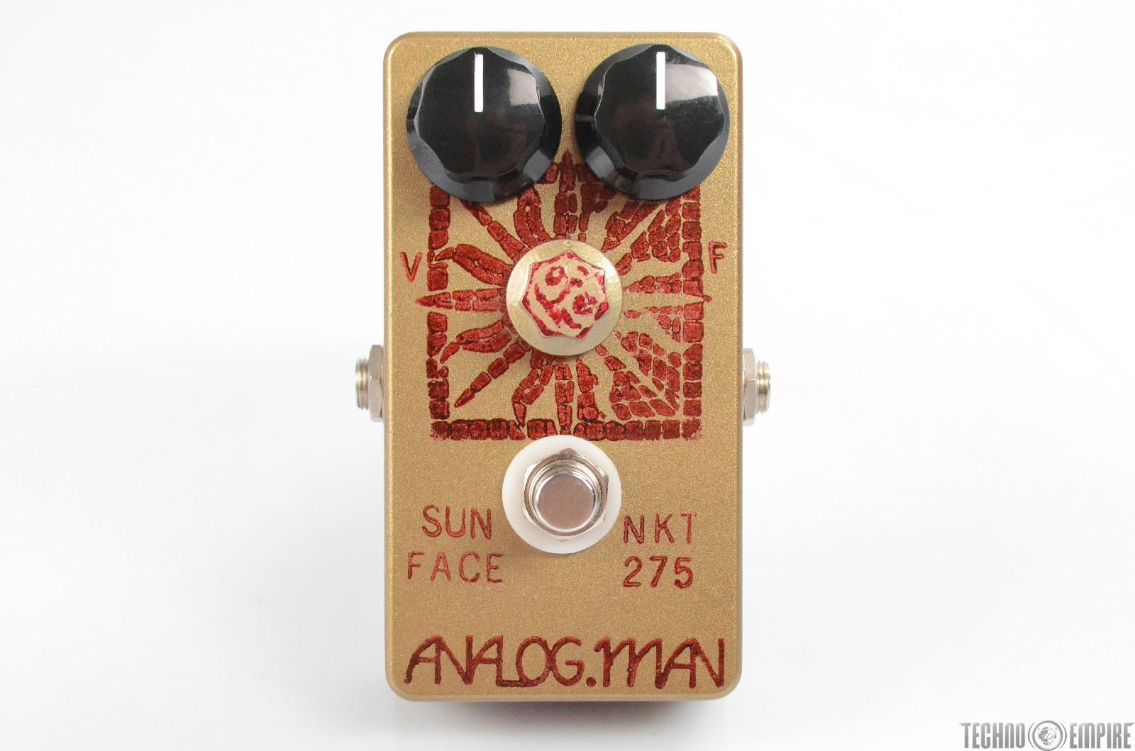 Analog Man Sun Face Red Dot NKT 275 Transistor Fuzz Effect Pedal w/ Box #30414