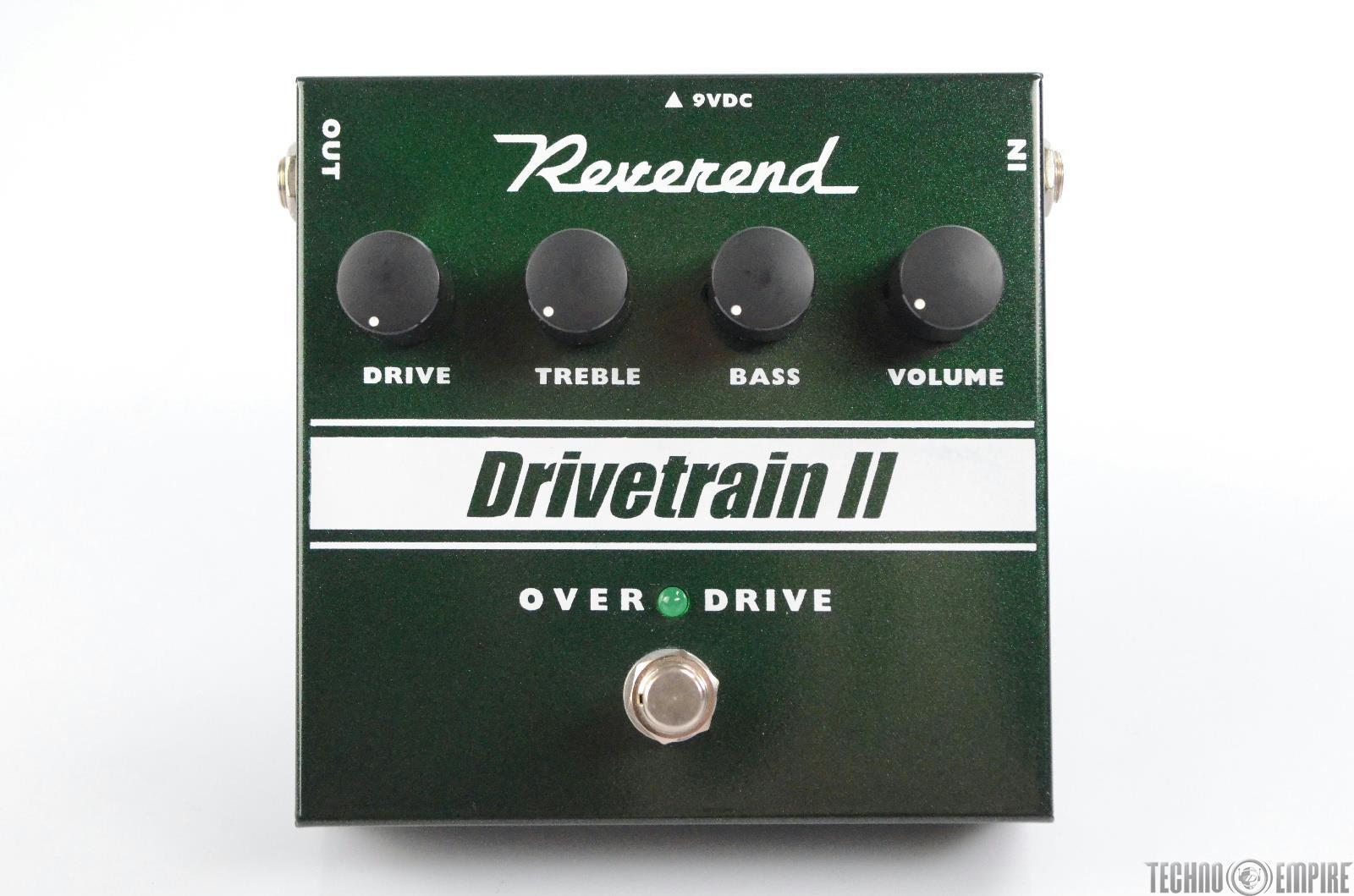 Reverend Drivetrain II Overdrive Boost Guitar Effect Pedal w/ Box 2 DRV2 #30359