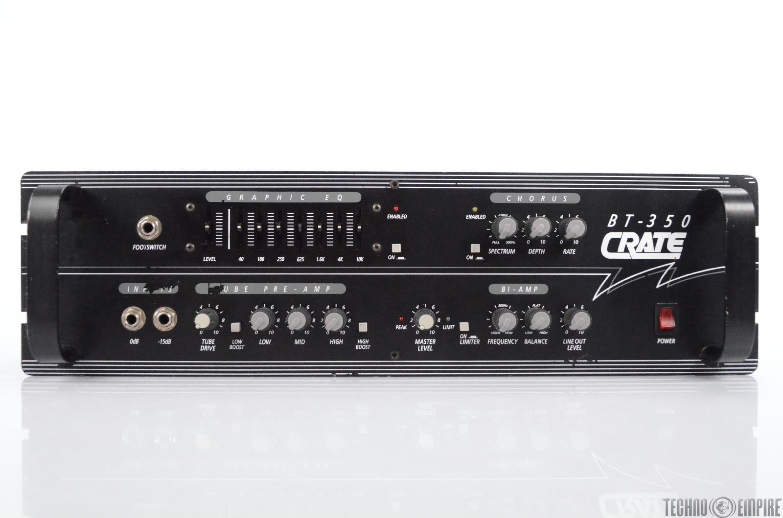 Crate BT-350 Bass Guitar Amp Head 350W Amplifier Rack Unit BT350 #30350