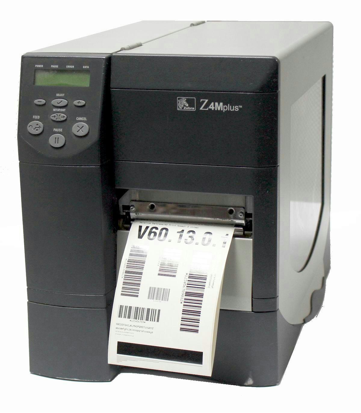 Details about Zebra Z4M Plus Z4M00-2201-0020 TT/DT Barcode Printer  (Parallel/Serial) 203DPI