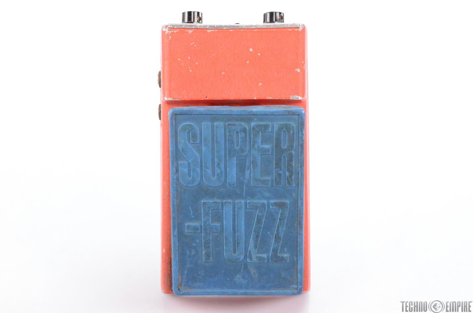 Vintage Univox Shin-ei Super Fuzz Guitar Distortion Effect Pedal Blue Red #30353