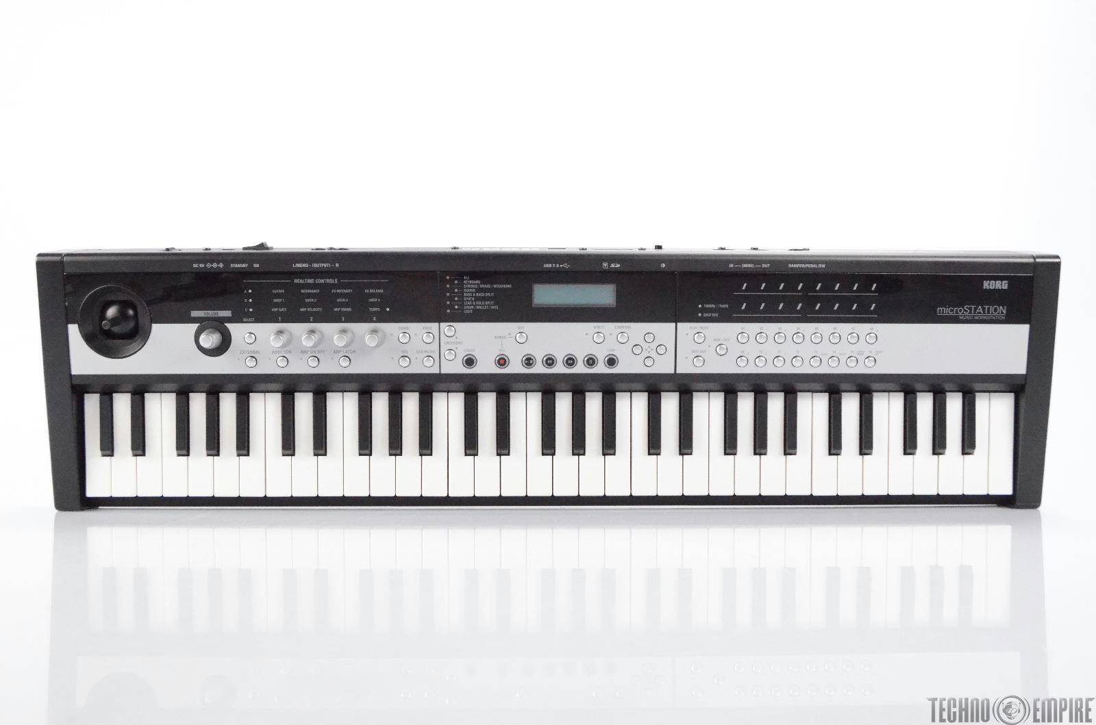 Korg MicroStation 61 Mini Key Compact Music Workstation Synth w/ PSU #30687