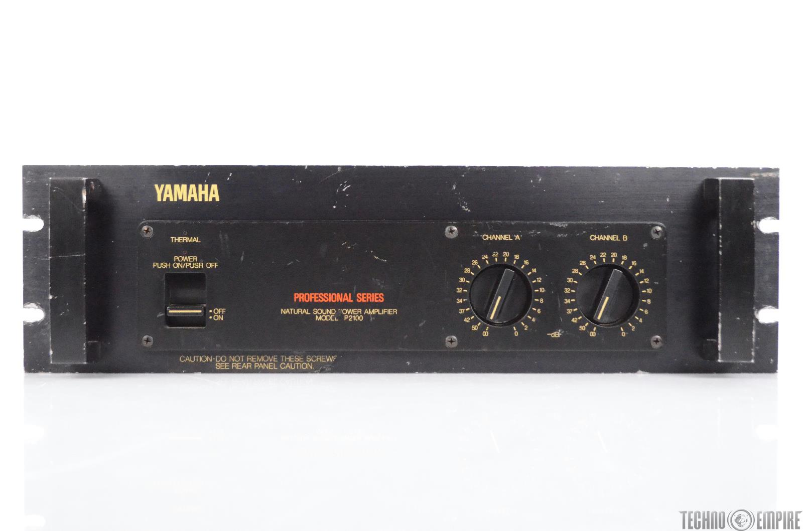 Yamaha P2100 Stereo Power Amplifier Amp Pro Series For Parts or Repair #30378
