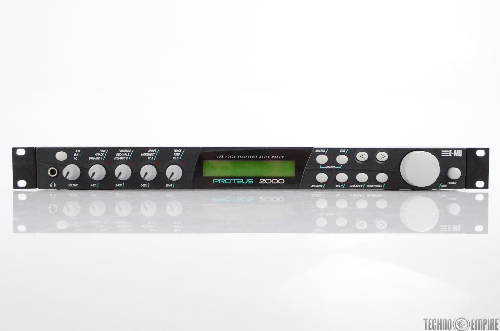 E-MU Proteus 2000 128 Voice Sound Module w/ World Protozoa B3 Cards #30610