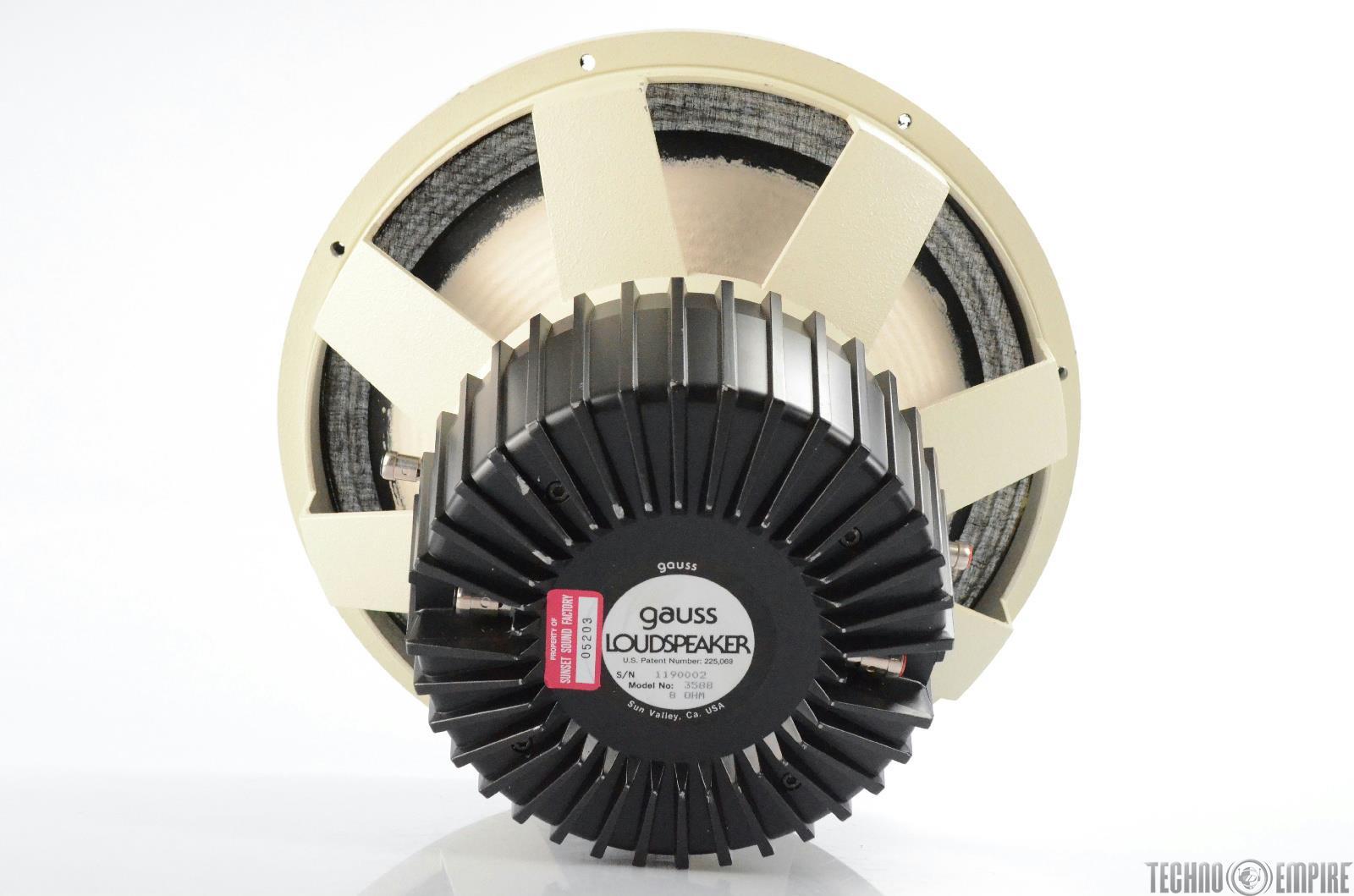 "Gauss 3588 15"" Coaxial Loudspeaker Speaker from Sunset Sound Factory #30596"