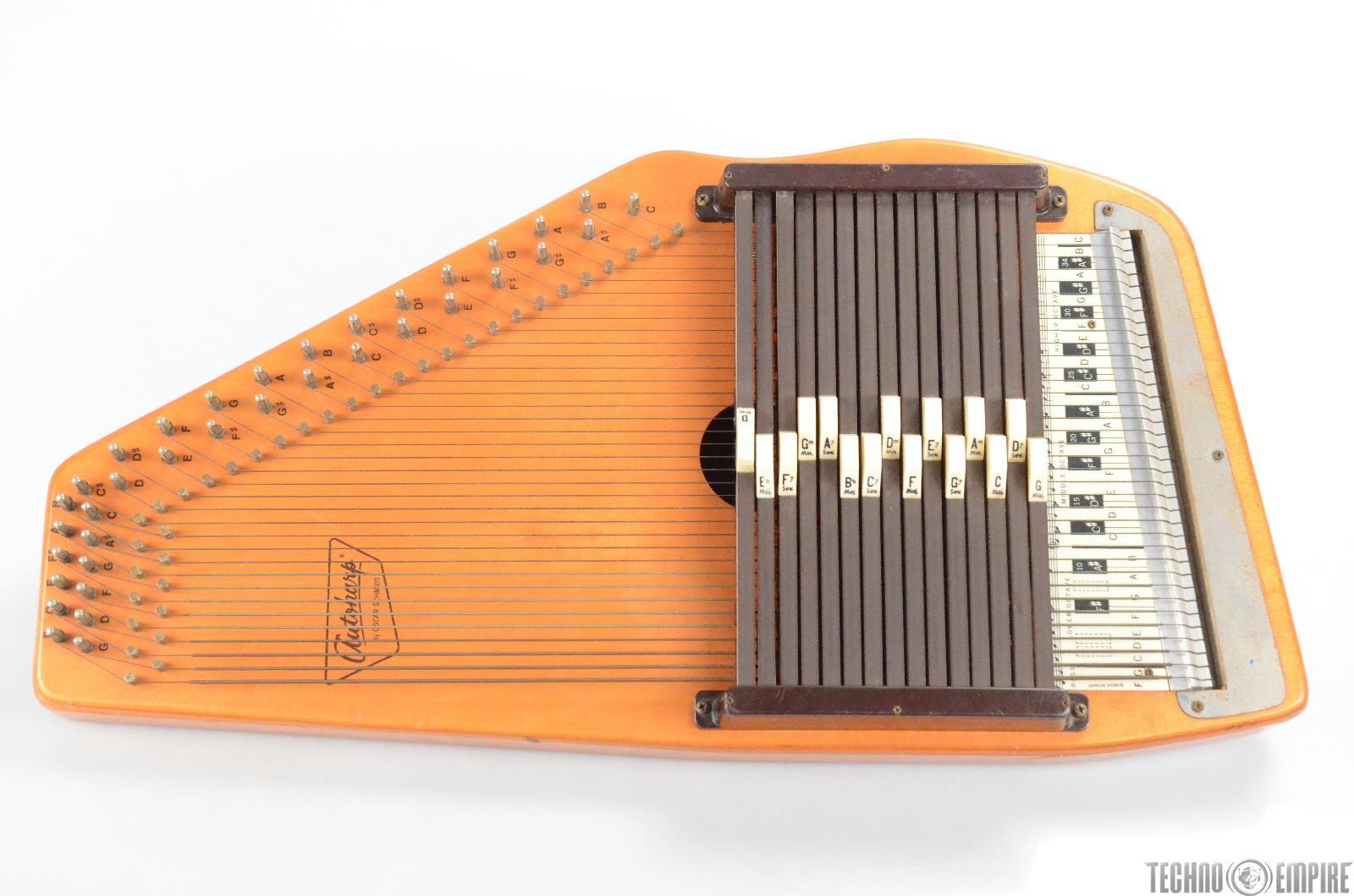 """Autoharp by Oscar Schmidt 15 Chord 36 Strings """"Needs Repair"""" #30495"""