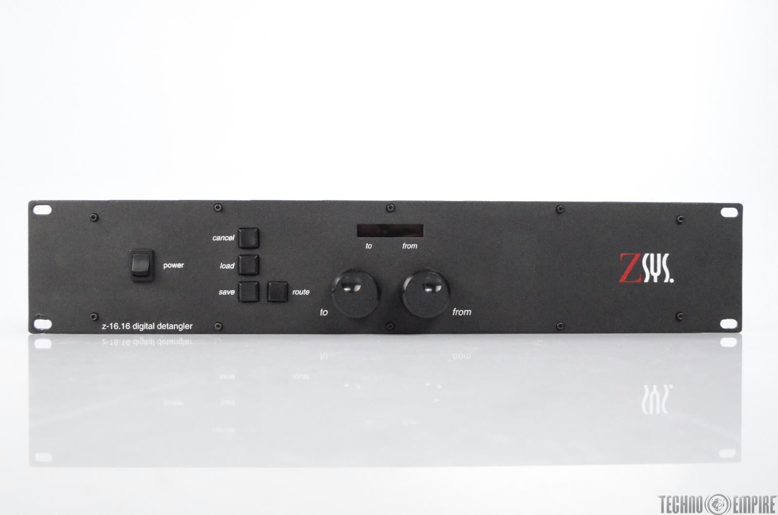 Z-Systems Audio Engineering Z-Sys Z-16.16 Digital Detangler w/ XLR cable #30798