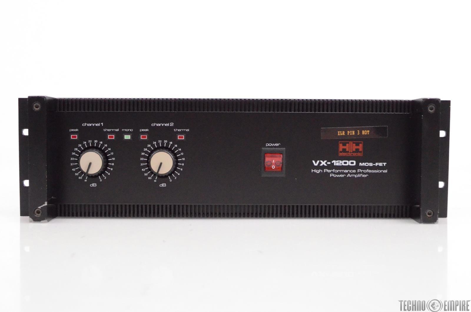 HH Electronic VX-1200 Mos-Fet Power Amplifier Sunset Sound Factory #30454