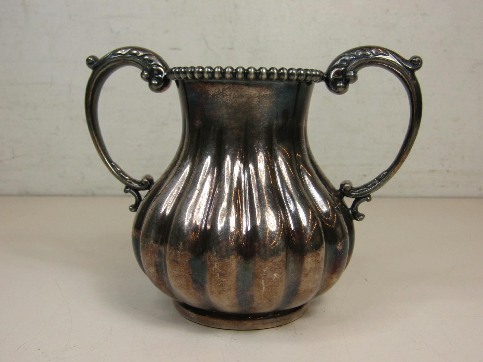 Antique Derby Silver Company Quadruple Plate Sugar Bowl 4