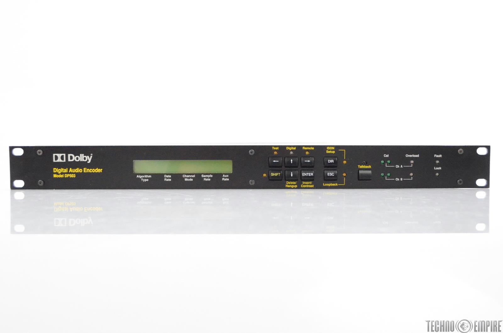 Dolby Model DP503 Two-Channel Digital Audio Encoder DP 503 #30649