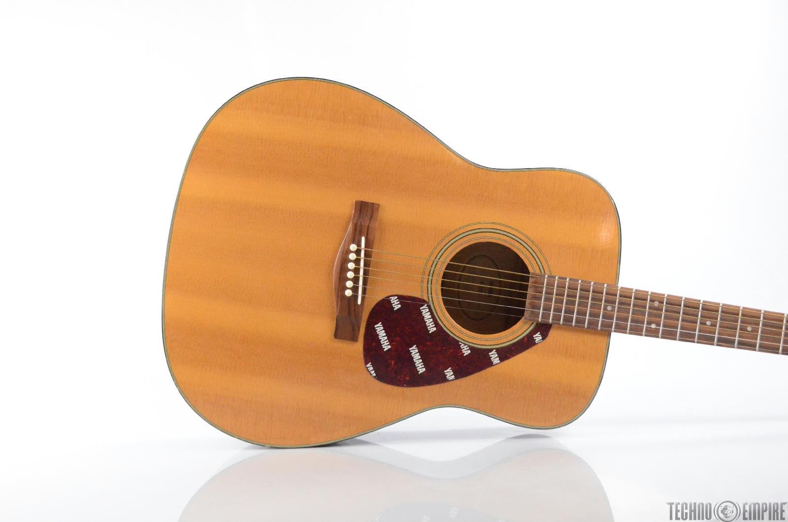 1990 Yamaha F-335 Acoustic Guitar Natural Finish Dreadnought F335 YMMI #30521