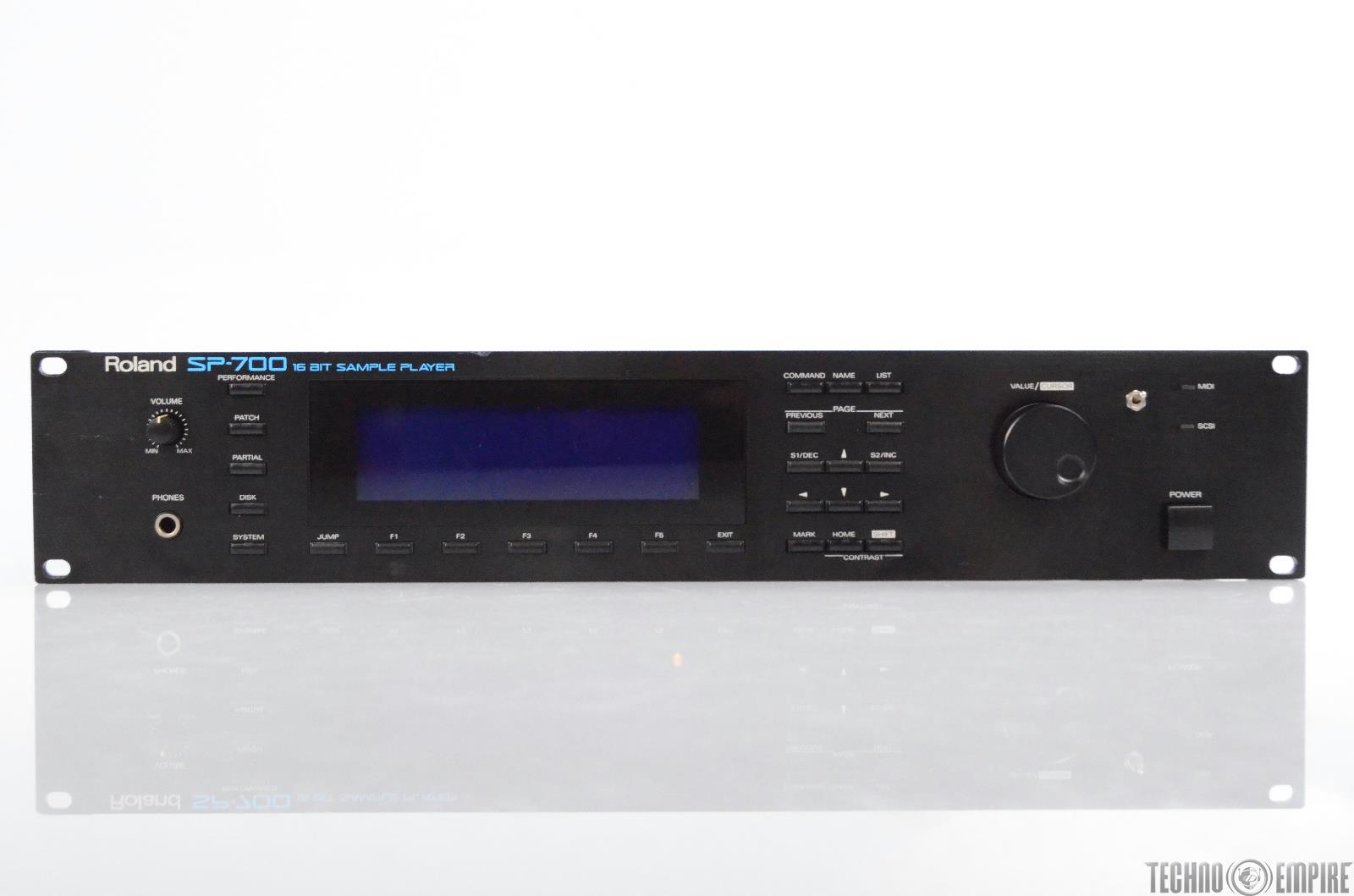 Roland SP-700 24-Voice 16 Bit Sample Player w/ SCSI cable Max Ram SP700 #30818