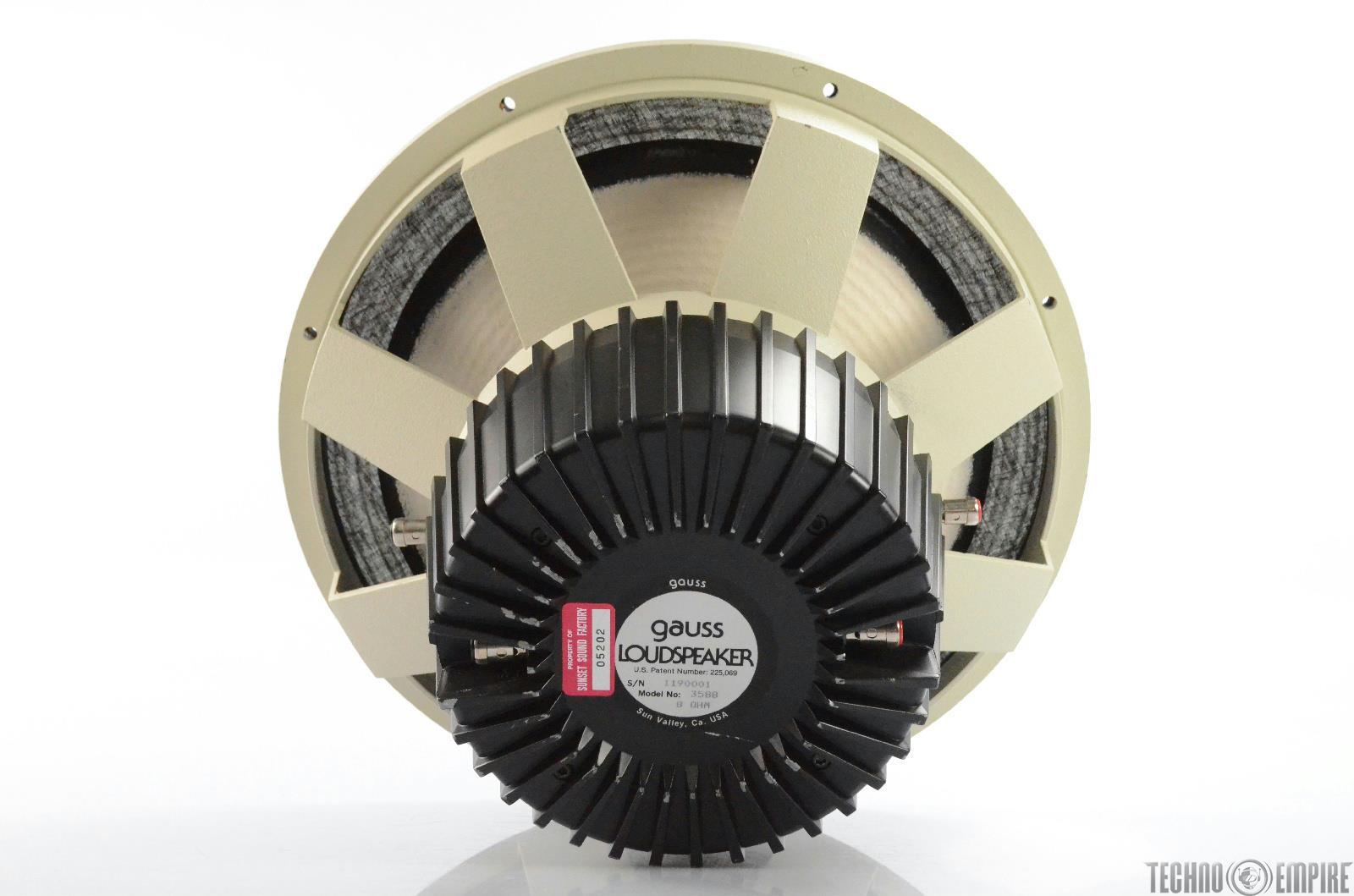 "Gauss 3588 15"" Coaxial Loudspeaker Speaker from Sunset Sound Factory #30592"