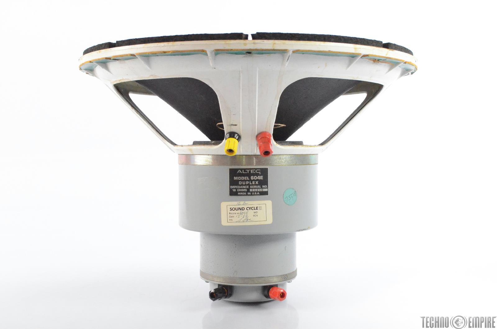 Altec 604E Duplex Speaker Loudspeaker from Sunset Sound Factory #30593