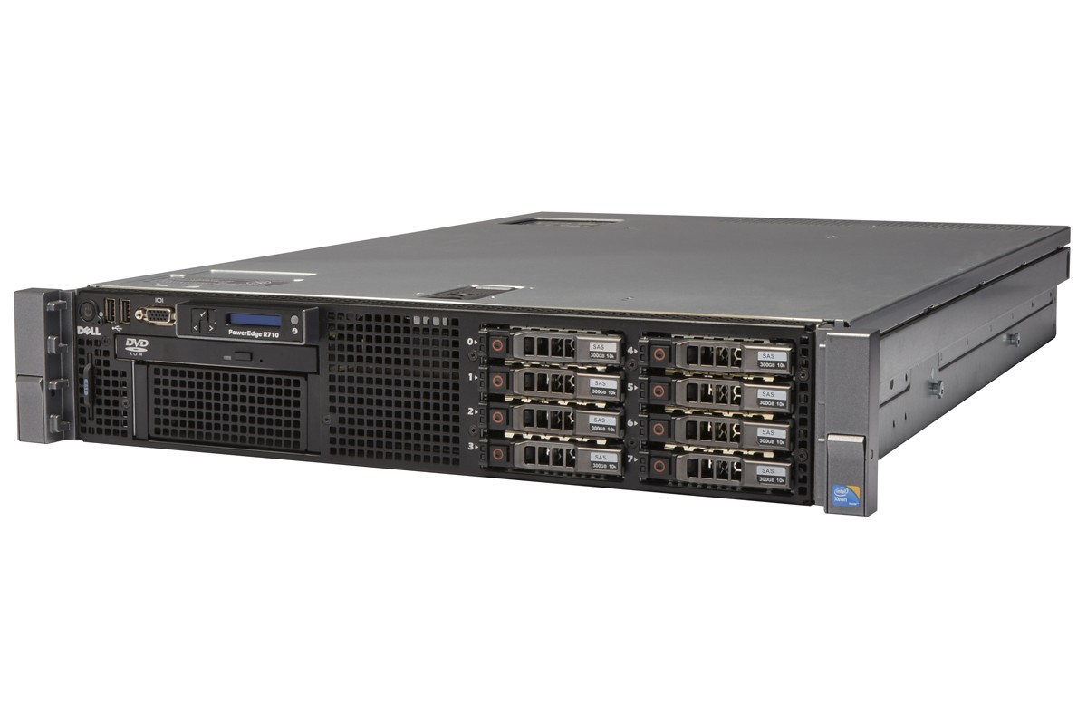 DELL PowerEdge R710 Server 2×Xeon Six-Core 2 66GHz + 48GB RAM + 4×300GB SAS  RAID