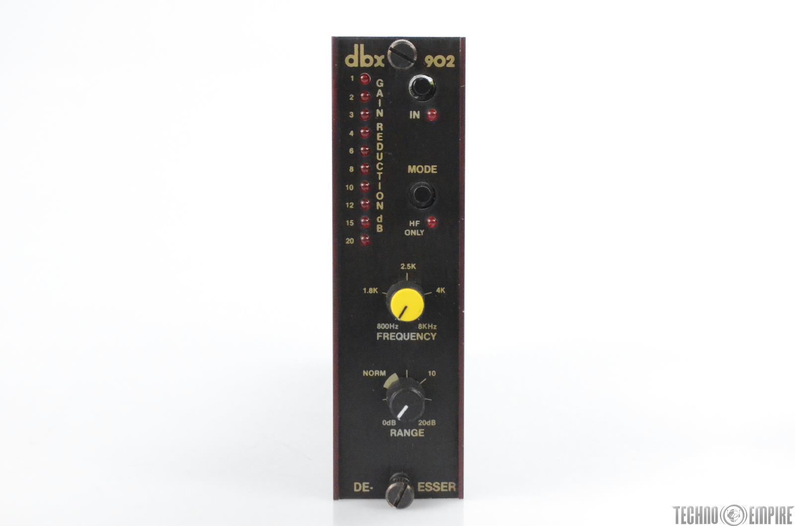 DBX 902 De-Esser Module for 900 Series Rack from Sunset Sound Factory #30492