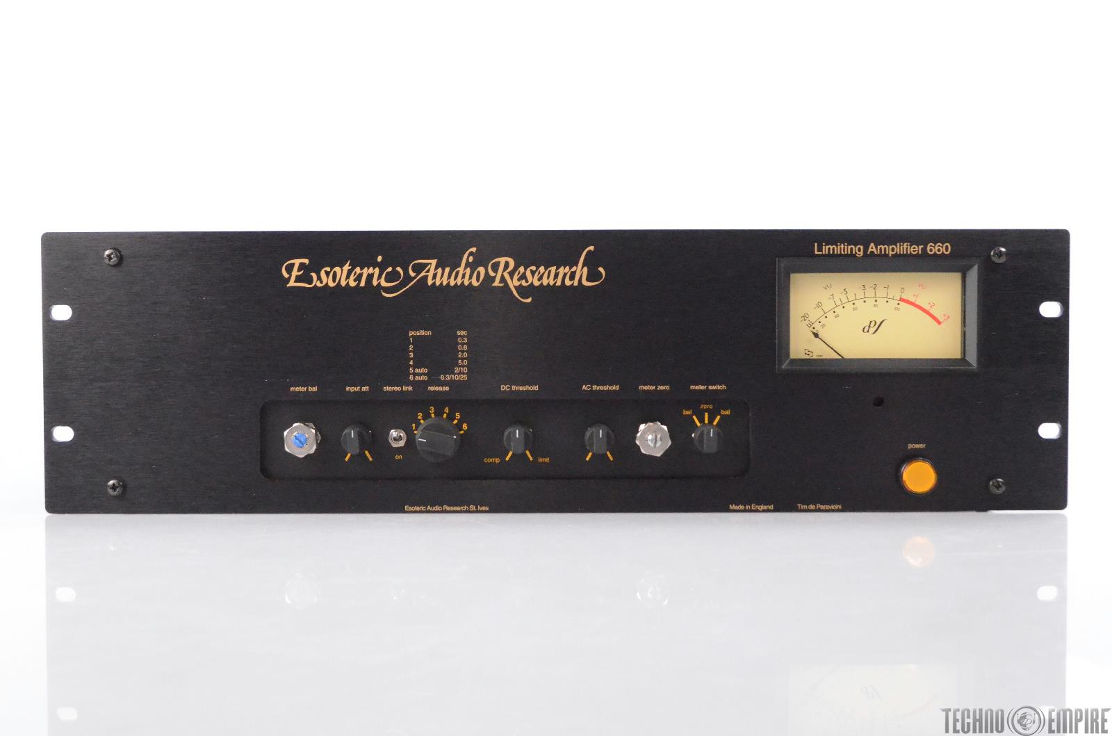 EAR Limiting Amplifier 660 Esoteric Audio Research Limiter Compressor #30996