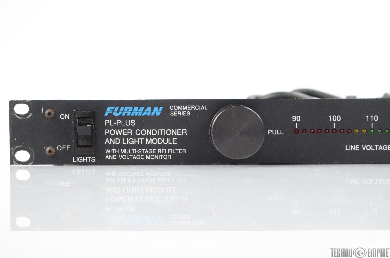 Furman Pl Plus Rack Power Supply Conditioner W Voltage Monitor Plplus 30570