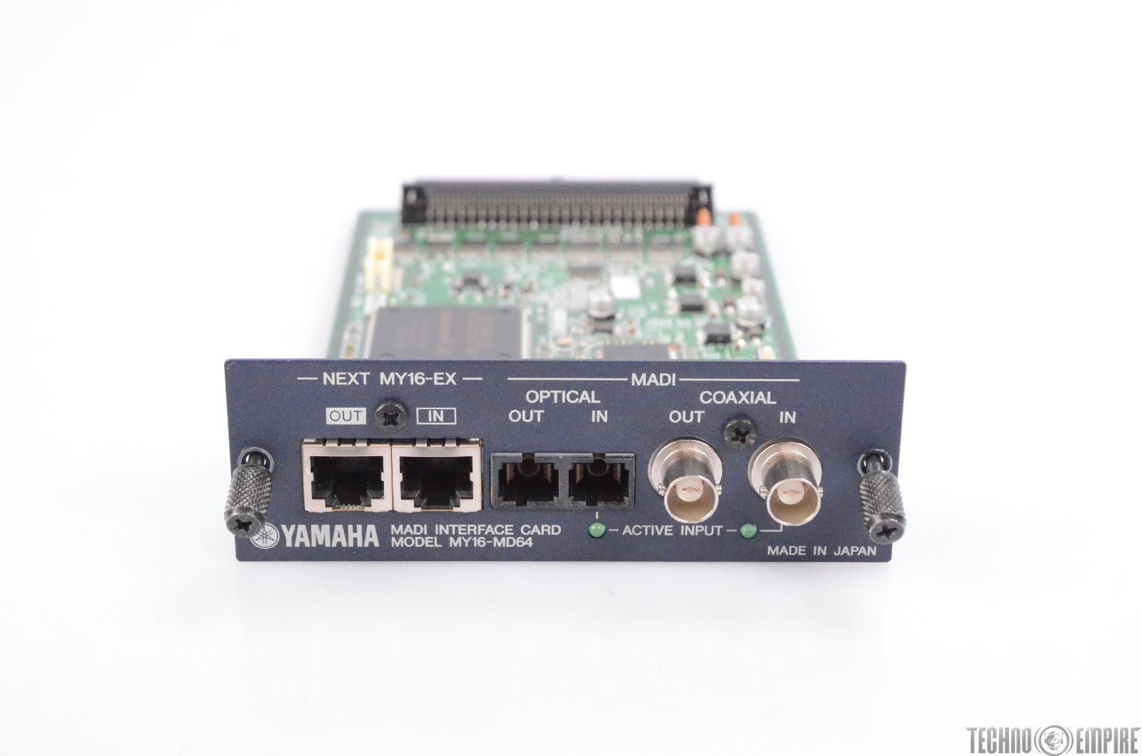 Yamaha MY16-MD64 16 Channel MADI I/O Interface Expansion Card Mini-YGDAI #31170