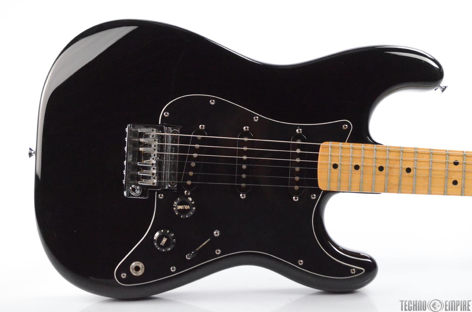 1983 Fender USA Dan Smith Stratocaster w/ Case Black Strat MIA American #31019