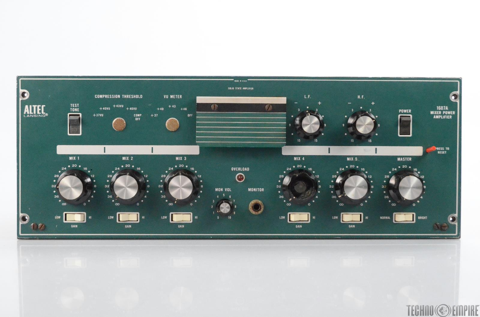 Altec Lansing 1607A Solid State Mixer Power Amplifier 1607 A #31041