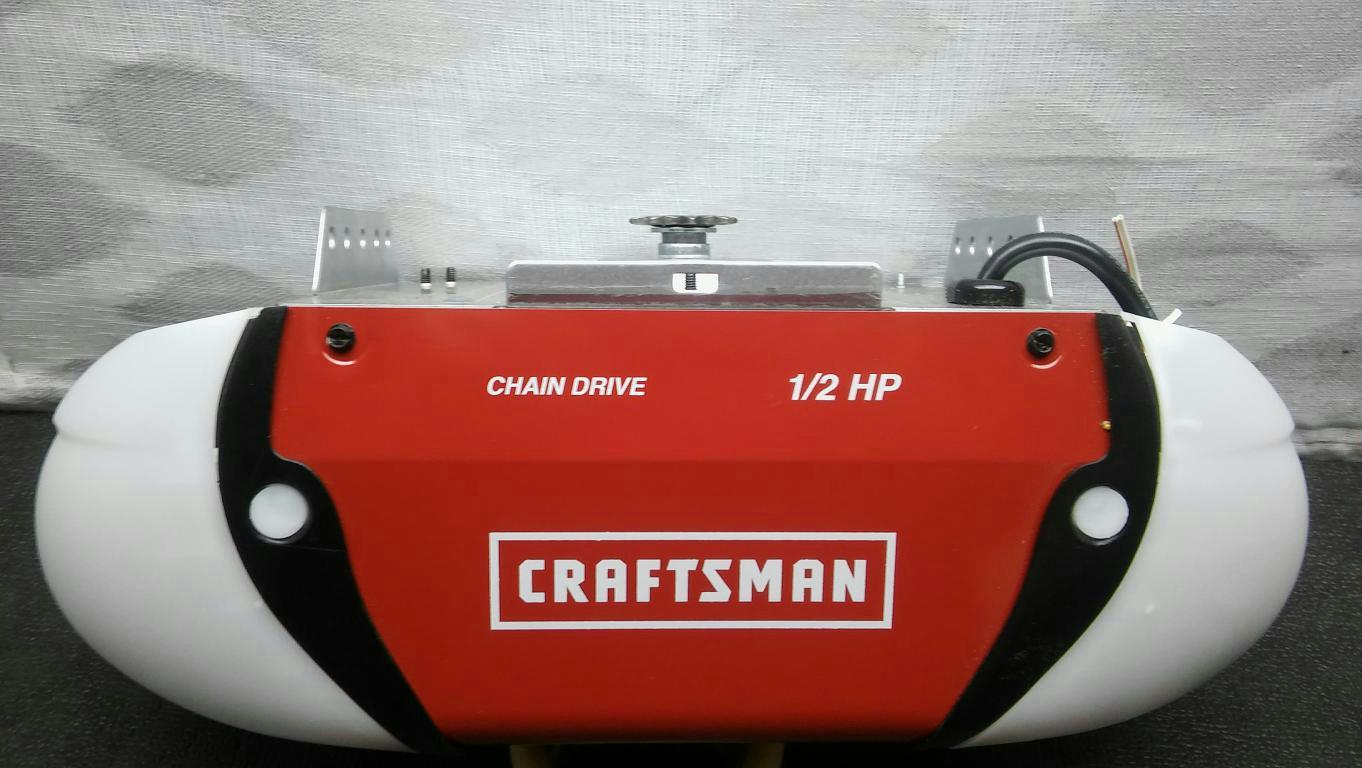Craftsman 1 2 Hp Chain Drive Garage Door Opener With