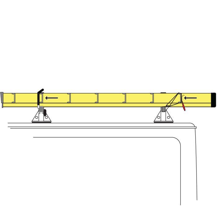 H1 3 Bar Aluminum Ladder Roof Van Rack Fits Ford Transit