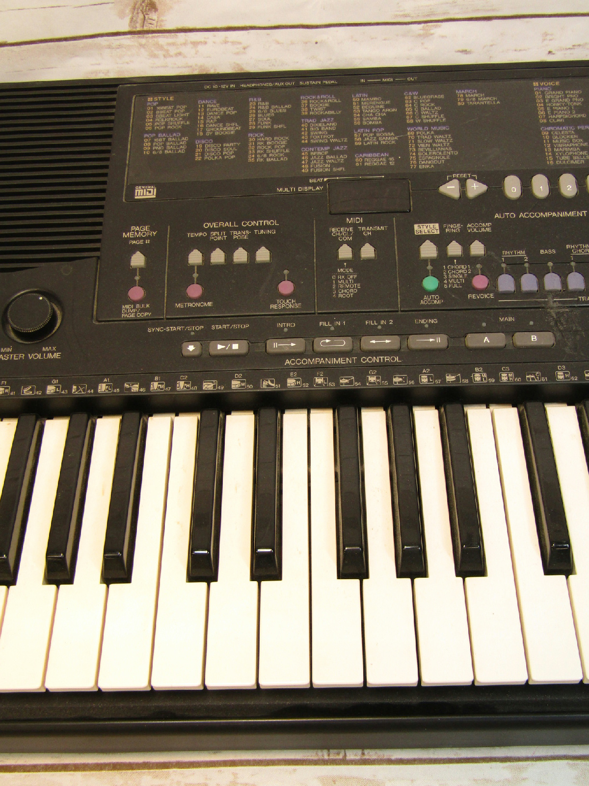 * Yamaha PSR-410 Electric Piano Synthesizer Keyboard ...