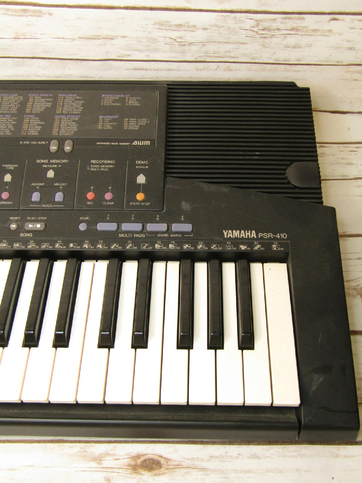 * Yamaha PSR-410 Electric Piano Synthesizer Keyboard ...