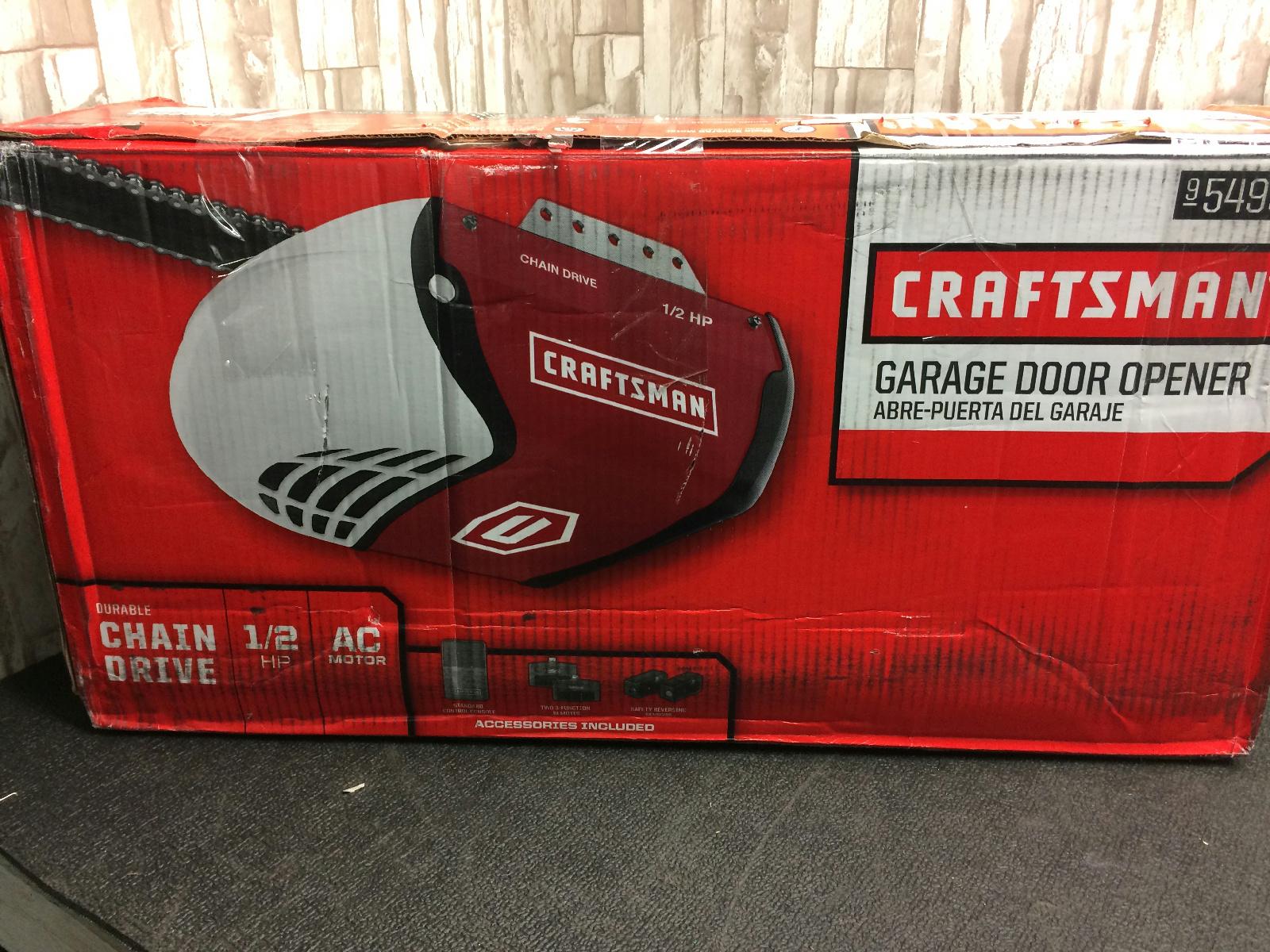 Craftsman 1 2 hp chain drive garage door opener model for 1 horsepower garage door opener